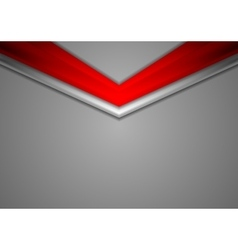 Red grey corporate abstract background vector image