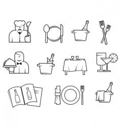 restaurant symbols vector image