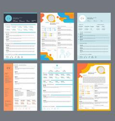resume template minimalist business curriculum vector image