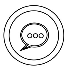 Round symbol chat bubble icon vector