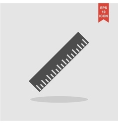 Ruler Icon Flat design style EPS vector