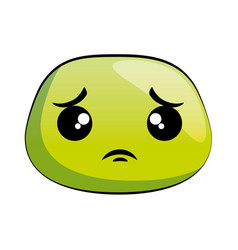 Sad emoji face icon vector