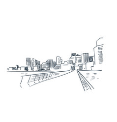 san francisco city sketch landscape line skyline vector image