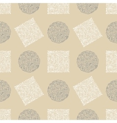 Seamless ornament vintage background vector image