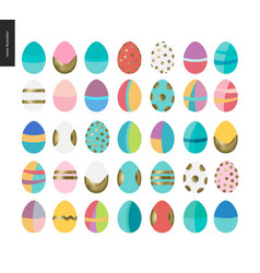 set of painted eggs vector image