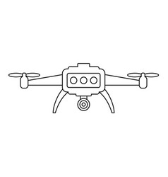 smart drone icon outline style vector image