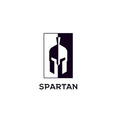 spartan logo design inspiration template vector image