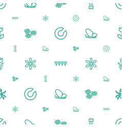 Spring icons pattern seamless white background vector