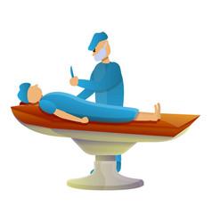 Surgery operation icon cartoon style vector
