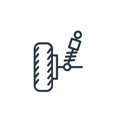 Suspension icon suspension editable stroke vector