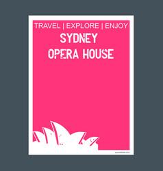 Sydney opera house australia monument landmark vector