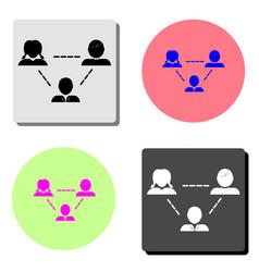 teamwork flat icon vector image