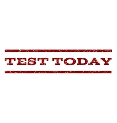 Test Today Watermark Stamp vector