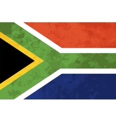 True proportions South Africa flag with texture vector