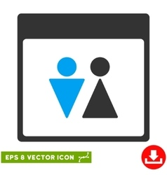 Wc persons calendar page eps icon vector