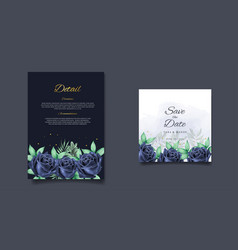 Wedding invitation card floral design with hand vector