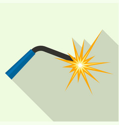 welder light for work icon flat style vector image