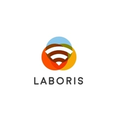 Wifi wireless internet signal logo design vector image