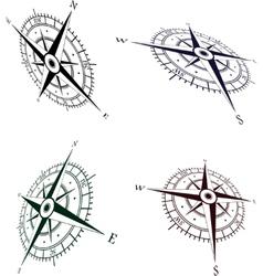 Wind roses set vector image