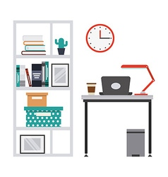 Work place design vector
