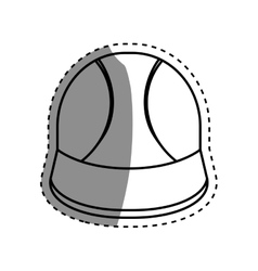 Worker construction helmet vector