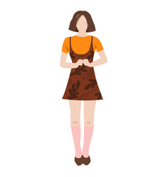 young student girl flat vector image
