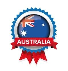 Australia flag badge vector