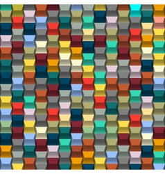 Colorful background with blocks structure vector image