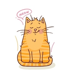 cute red kitten 1 vector image