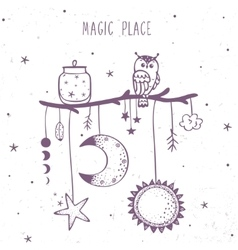 magic place ethnic vector image vector image