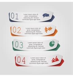 Modern arrow infographics element layout vector image vector image