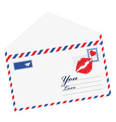 heart in the envelope mail open with heart the vector image vector image