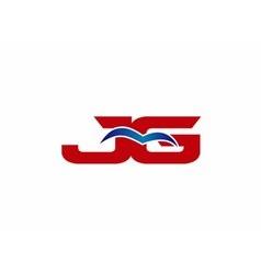 Jg logo graphic branding letter element vector