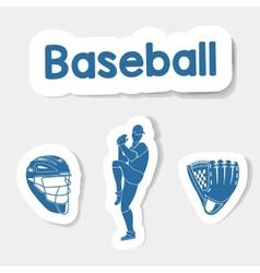 Logo baseball on a light background vector