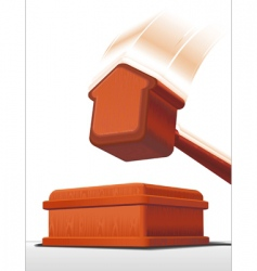 auction hammer vector image vector image