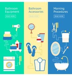 Bathroom banner set vector image vector image