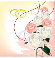 bridal bouquet vector image