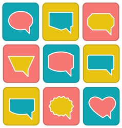 Flat speech bubbles vector image vector image