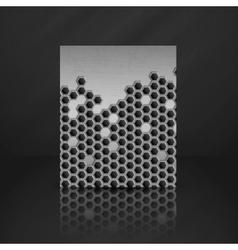 Hexagon Metal Banner vector image