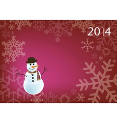 Holiday snowman vector image vector image