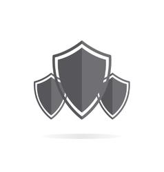 Shield protection logo vector image vector image