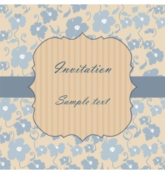 Vintage invitation card with poppy flowers vector image