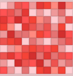 Color red mosaic tile square background vector