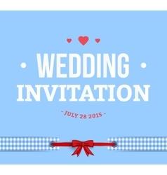 Cute Wedding Invitation Card vector image vector image