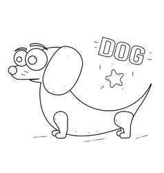 funny and friendly cartoon dog coloring book for vector image vector image