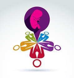 International conference on pregnancy and abortion vector image