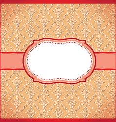 Red dotted ornamental frame vector image vector image
