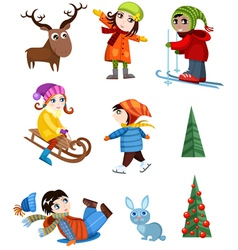 winter set vector image
