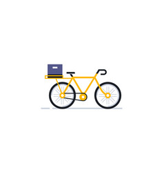 A bicycle for an online delivery service vector