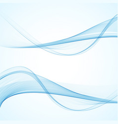 Abstract blue waveset vector